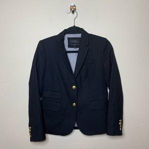 J. Crew Black Schoolboy Wool Blazer Jacket